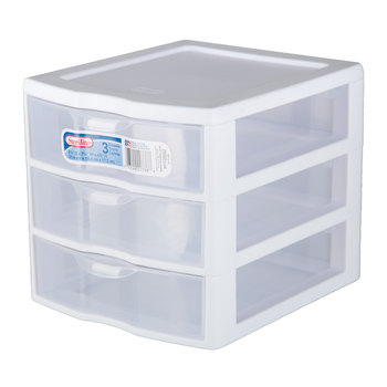 White Organizer With Drawers